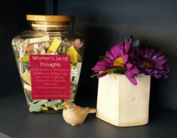 Women's Jar of Thoughts ~ Daily Quotes & Affirmations for Strong Women ~ *Contains Adult Language* #365motsbocalidees