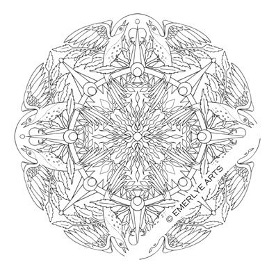 Bird Mandala - An adult coloring page | Coloring pages ...
