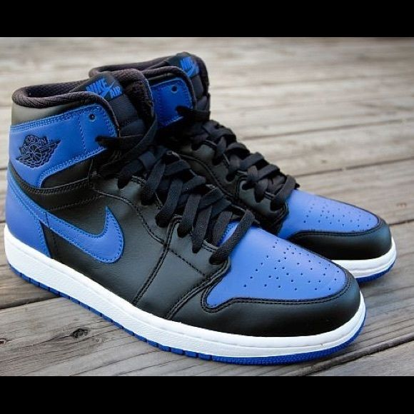 Dead Stock Men s Air Jordan Nike 1 Royal New in box. Original everything.  Jordan Shoes Sneakers e38af342a996