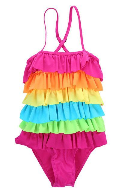 36f072d83e4e7 Girls Swimwear Kids Girls Swimsuit Bathing Tankini Swimming Clothes Rainbow  Girls One-Piece Swimsuits Size 3T 4T 6T 8T