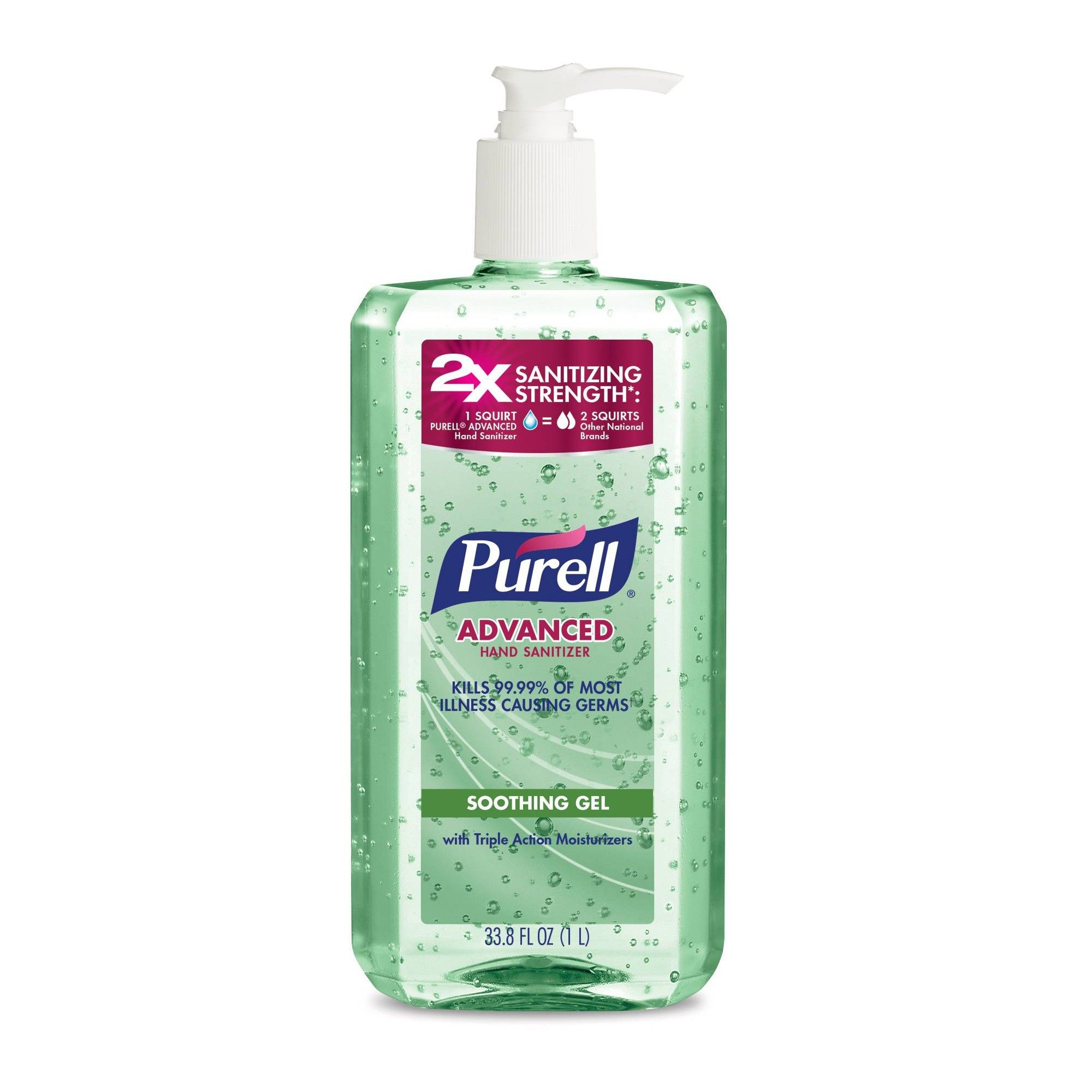 Purell Advanced Hand Sanitizer Green Certified Gel Pump Bottle