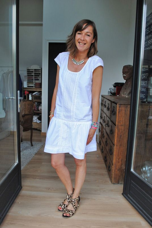 Sewing Topshop Couture Carrefour Robe Blanche Sandales qfxq40wO