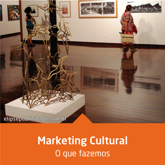 A Elipse Publicidade é especialista em desenvolver projetos de Marketing Cultural que agregam valor às marcas, nos segmentos de danças, exposições, espetáculos, mostras, artes plásticas, fotografia e outros. Entre em contato conosco.