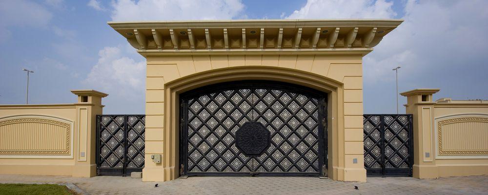 G0003 Islamic Design Gate Metal Iron Glass Uae Jpg Gate Design Front Landscaping Design Main Gate Design