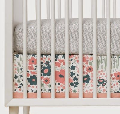 Dwellstudio Posey Canvas Crib Skirt Jpg Baby Girl S