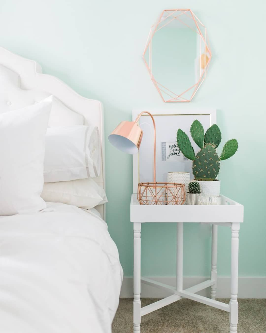 "Hunker On Instagram: ""Pastel Mint Green Walls, Crisp White"