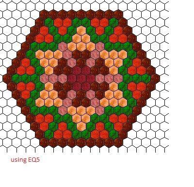 free hexie pattern by Sandra Pakalnis using EQ5