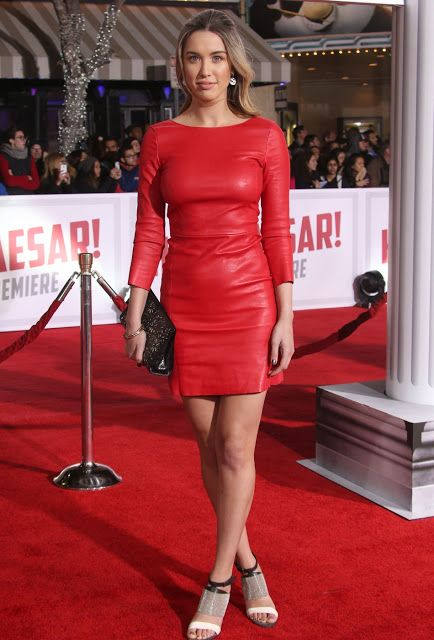 Red leather dress pictures