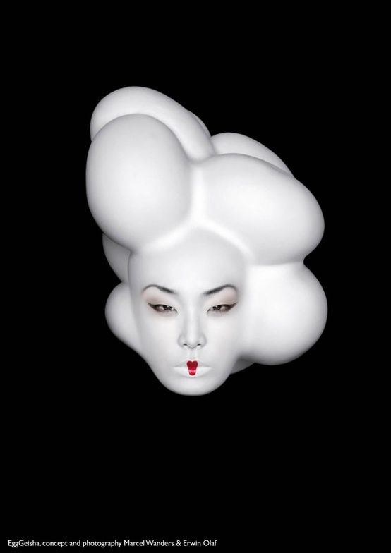 Egg geisha by Erwin Olaf - Netherlands - concept and photography Marcel Wanders & Erwin Olaf