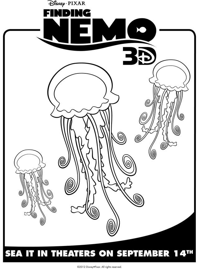 Finding Nemo\'s Jellyfish - Free Printable Coloring Pages - use as a ...