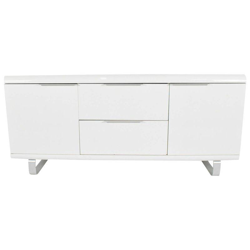 Saporiti Sideboard in White Lacquer with Chrome Legs ... on modern sideboards and hutches, industrial modern credenzas, country style credenzas, post modern credenzas, modern sideboards with sliding door, made in usa modern credenzas, consoles and credenzas,