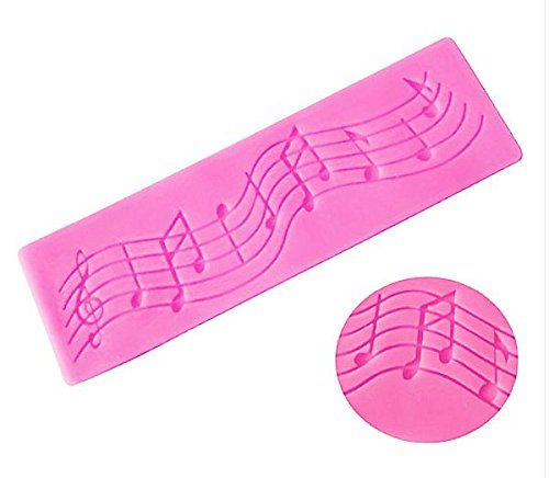 Musical Notes Lace Strip Silicone Mold for Fondant Gum Paste Chocolate * Click image to review more details.(This is an Amazon affiliate link and I receive a commission for the sales)