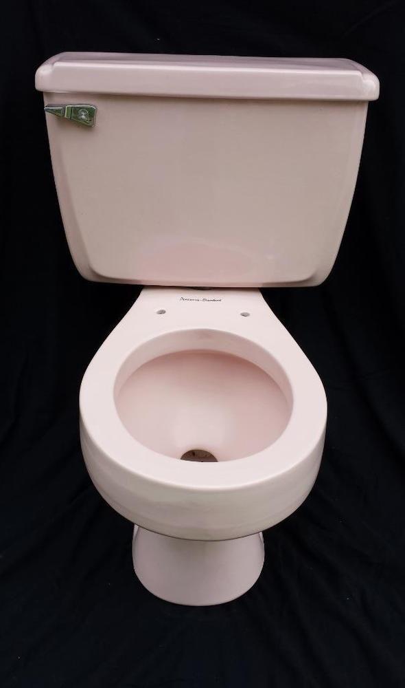 Vintage Mid Century Toilet Pink American Standard 1950