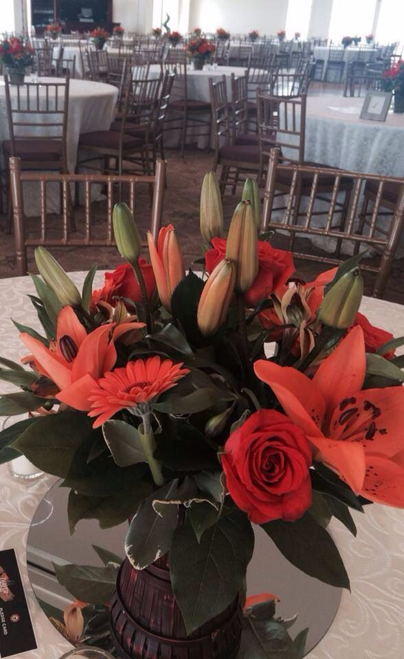 Lily centerpiece. Kenley Rose Events