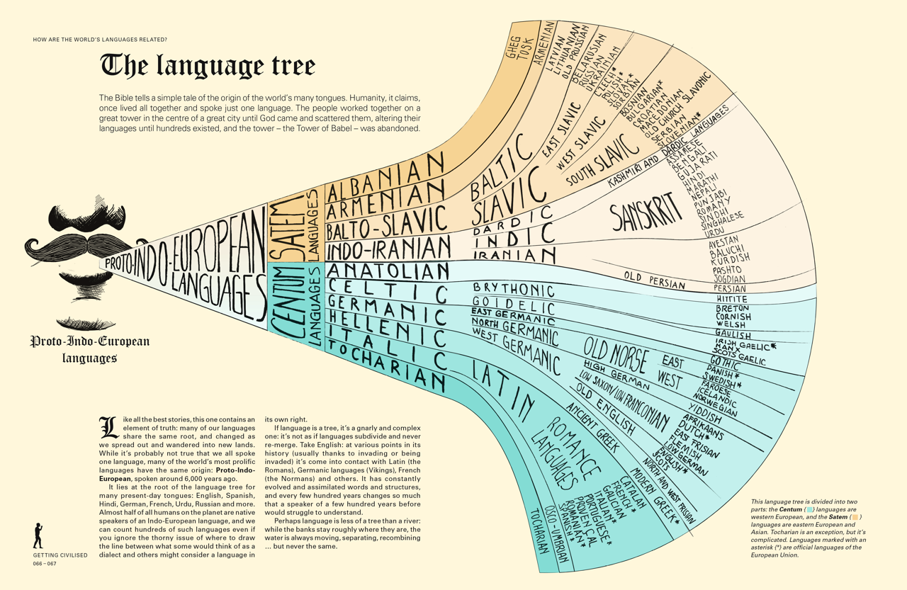 Why Infographics Are A Great Way To Show The History Of The World - How languages in the world