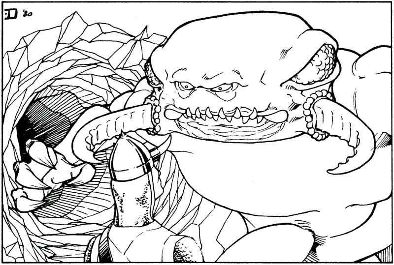 Another tasty adventurer is trapped by the umber hulk's