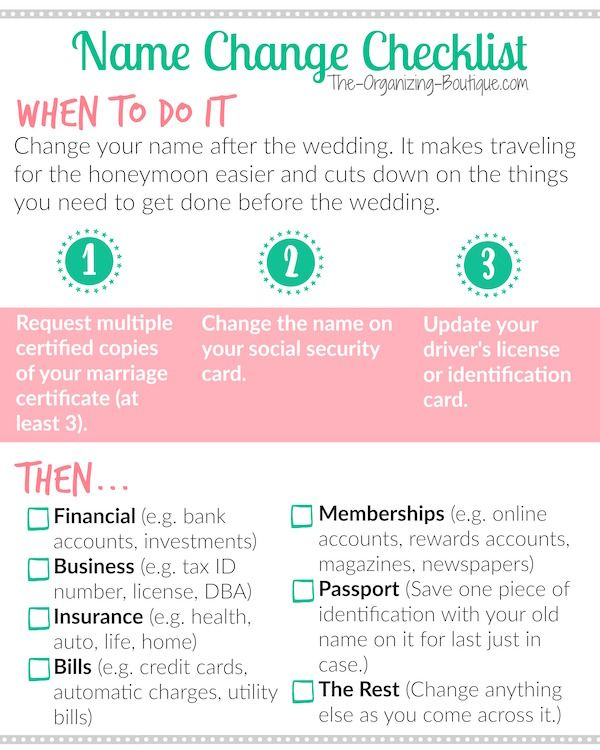How To Change My Name Name Change Checklist Change My Name