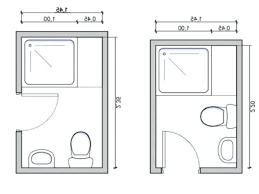 Image result for 5x7 bath floorplans | Small bathroom ...