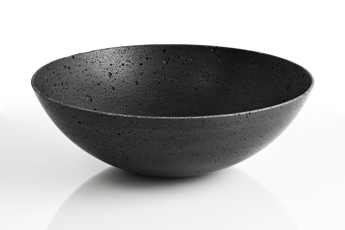 Black Decorative Bowl Bakhand Made Decorative Bowls Made Of Concretesize19Cm  30