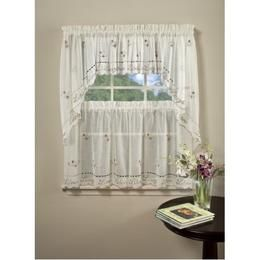 Saturday Knight Live Laugh Love Embroidered Valance Kitchen