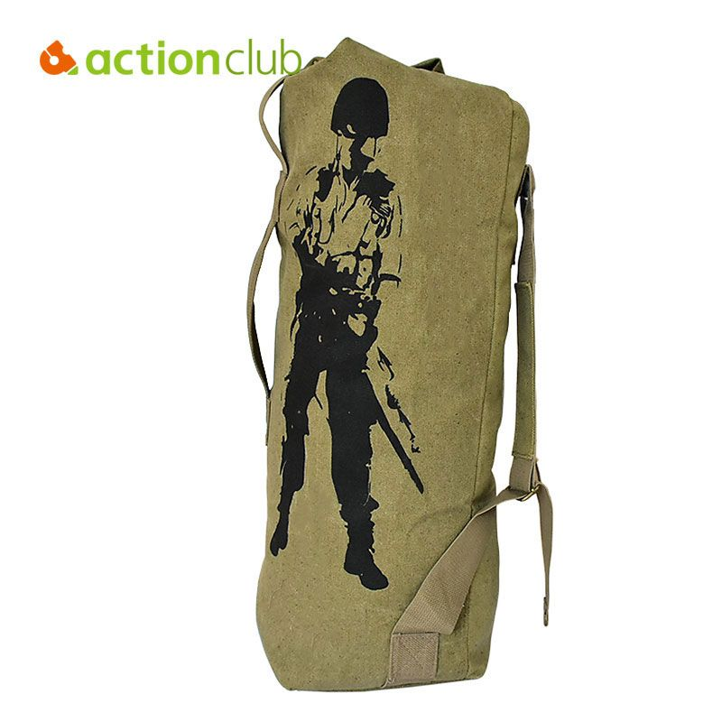 0a15fa4a1 Actionclub Outdoor Travel Luggage Army Bag Canvas Hiking Backpack Camping  Tactical Rucksack Men Military Backpack mochila SH360 #Military Backpack ...