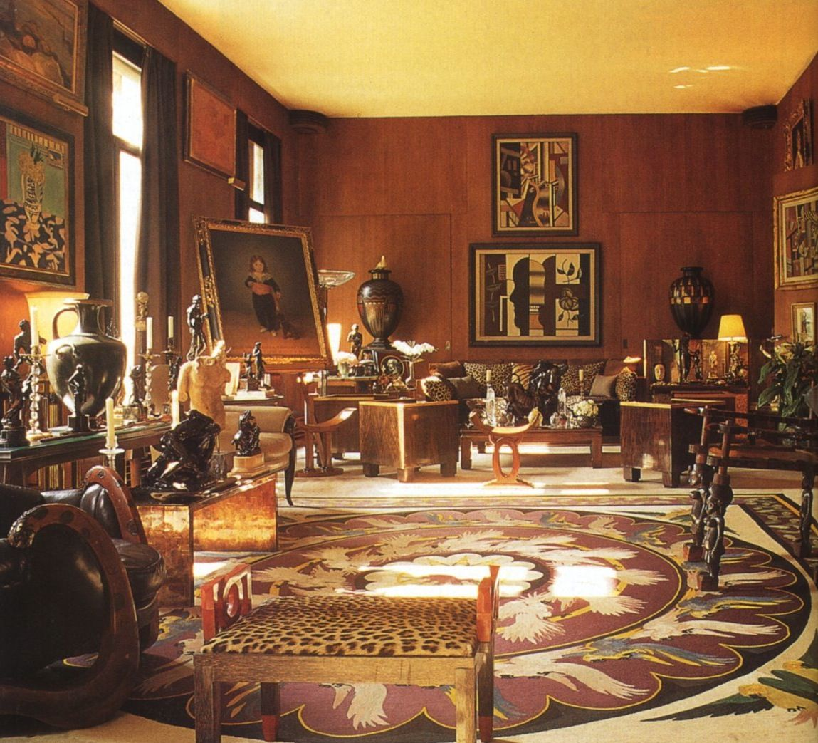 YVES SAINT LAURENT- HOUSE AND GARDEN~ real art, including the chair ...