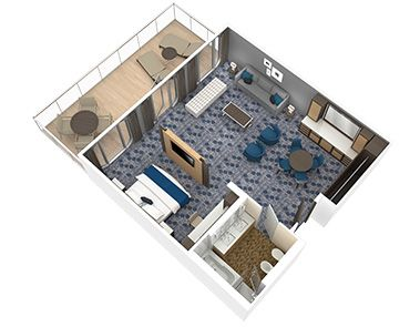 Owner S Suite With Balcony Harmony Of The Seas Deck Plans Royal Caribbean International