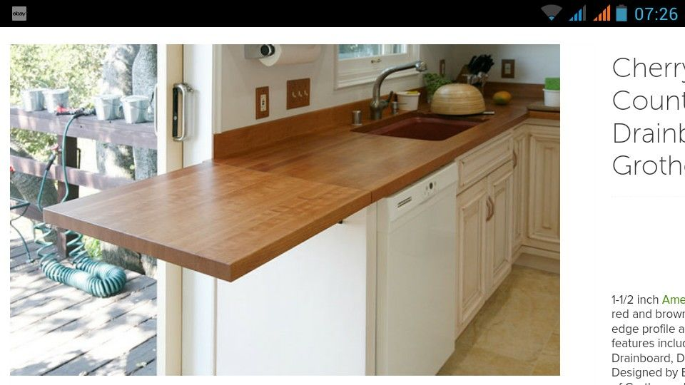 Fold Out Hinged Worktop For Temporary Extra Space Stupid