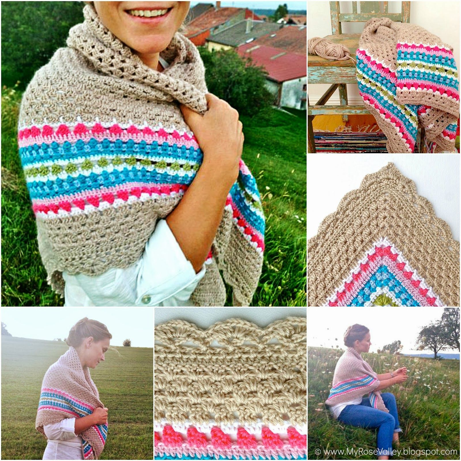 My Rose Valley: The Nordic Shawl Pattern | Crochet Rulez | Pinterest ...