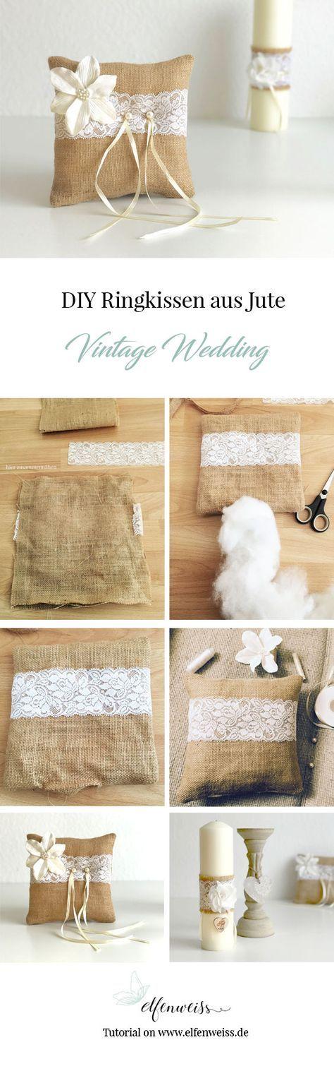 Almohada de anillo vintage DIY ⋆ elven blanco