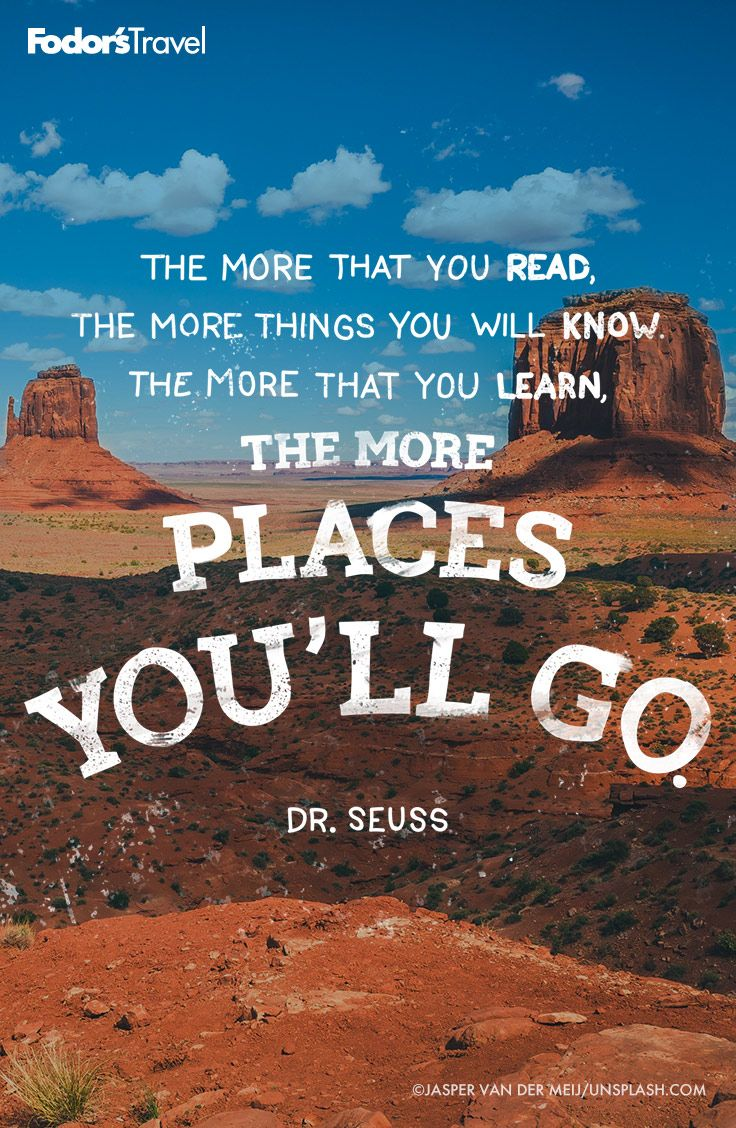 Oh the places you will go! #drseuss #quote #inspiration   Travel ...