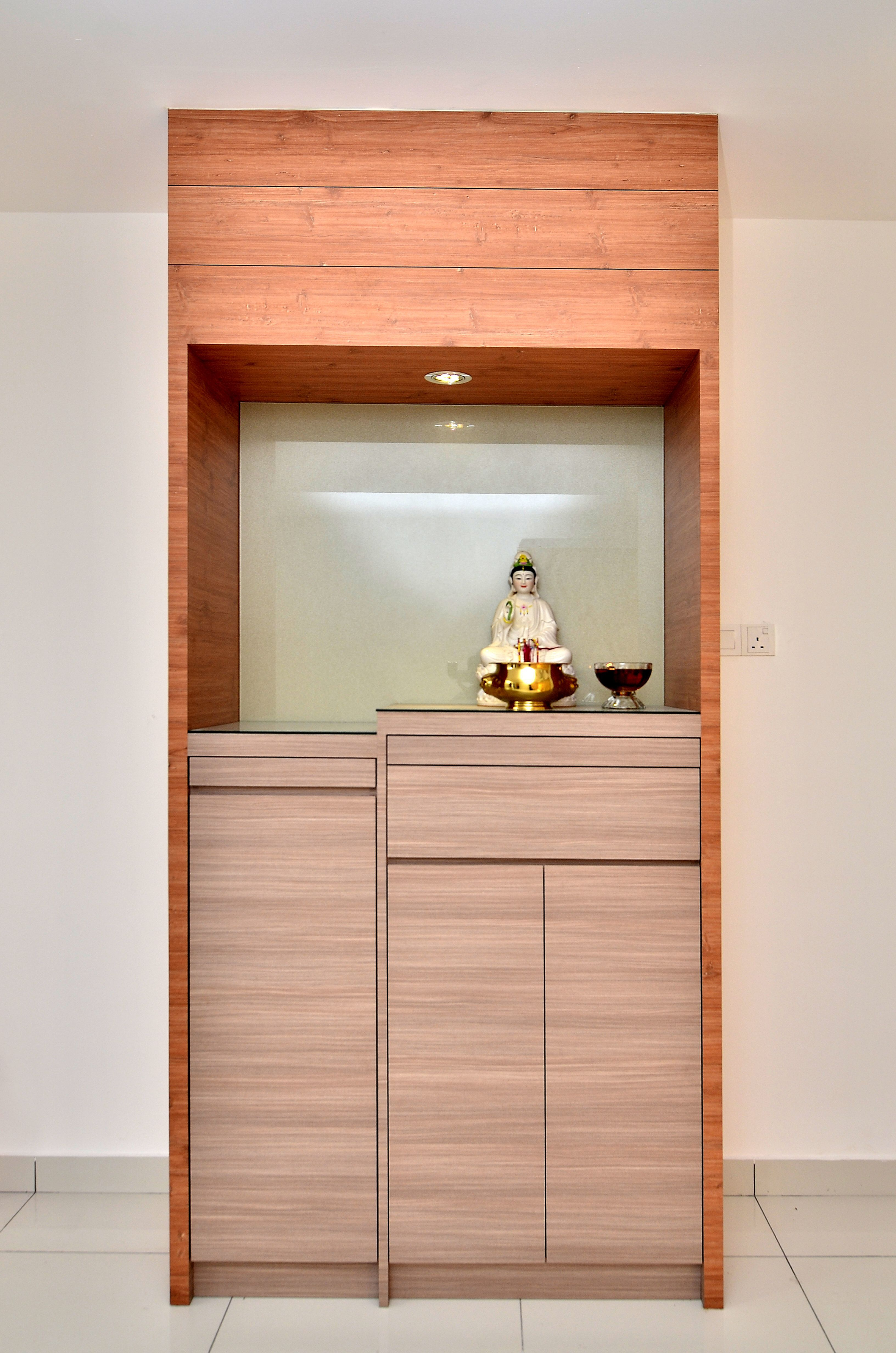 Customized Altar Wood Brown Buddha Guanyin Simple Design House In 2019 Pinterest