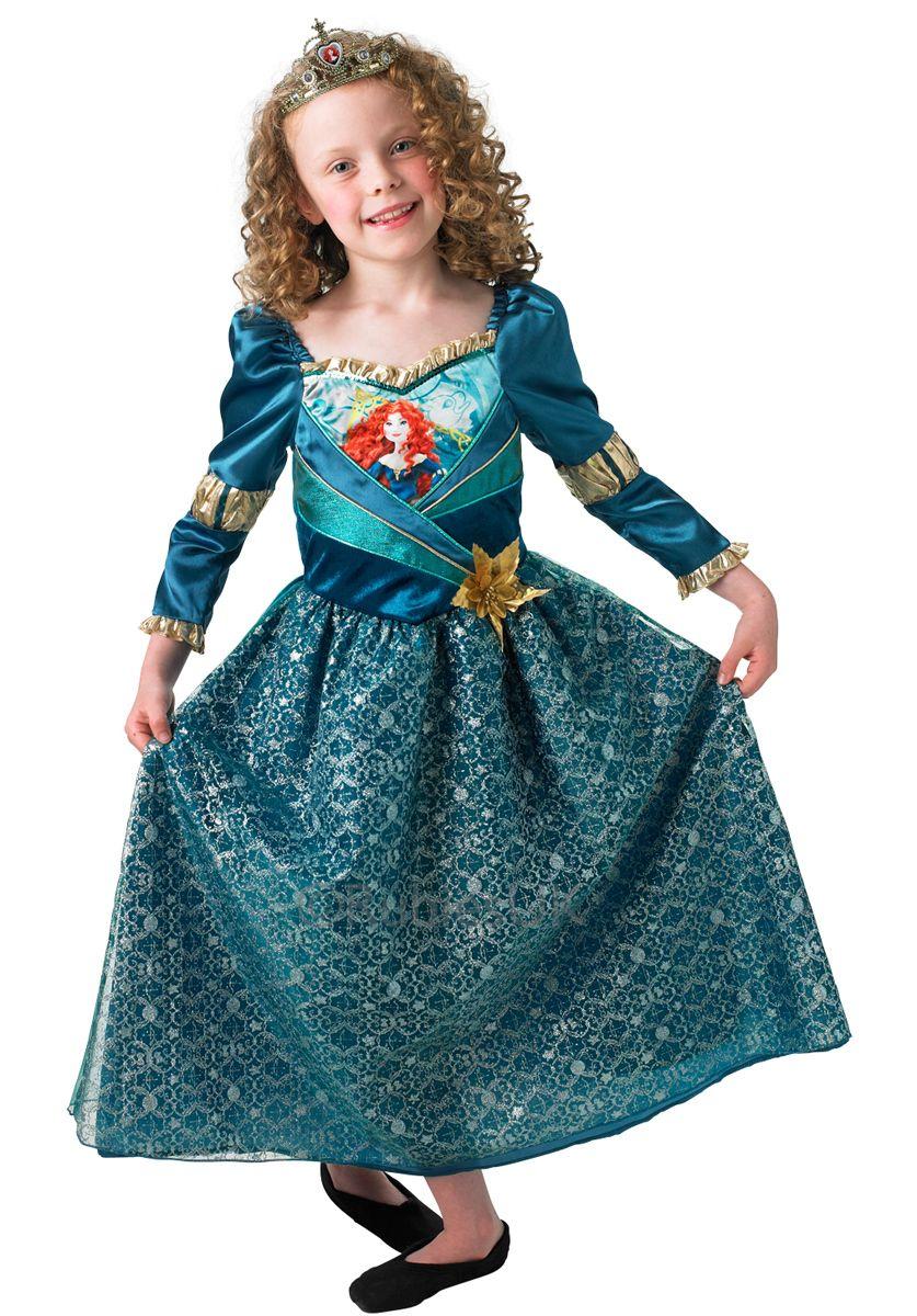 Girls Deluxe Merida Brave Disney Princess Fancy Dress Costume Child Kids Outfit