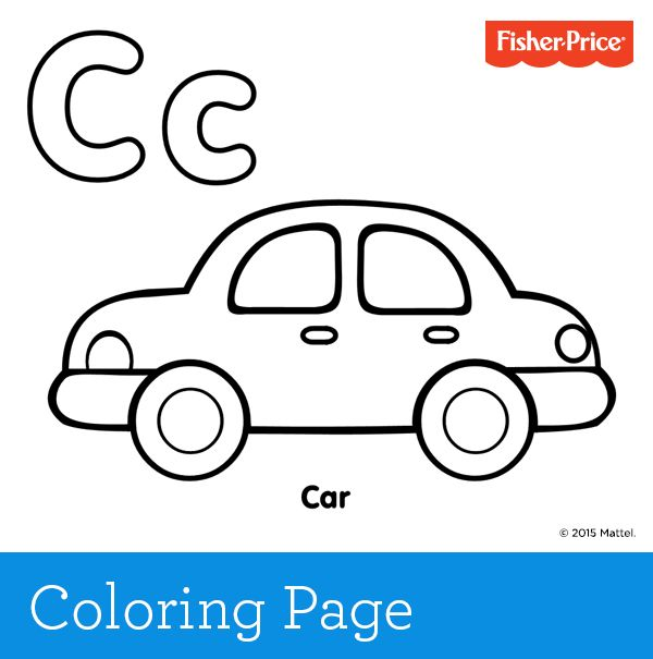 C Is For Car What Color Is Your Family Car Take The Opportunity To Ask Your Child Cars Preschool Homeschool Preschool Activities Preschool Coloring Pages