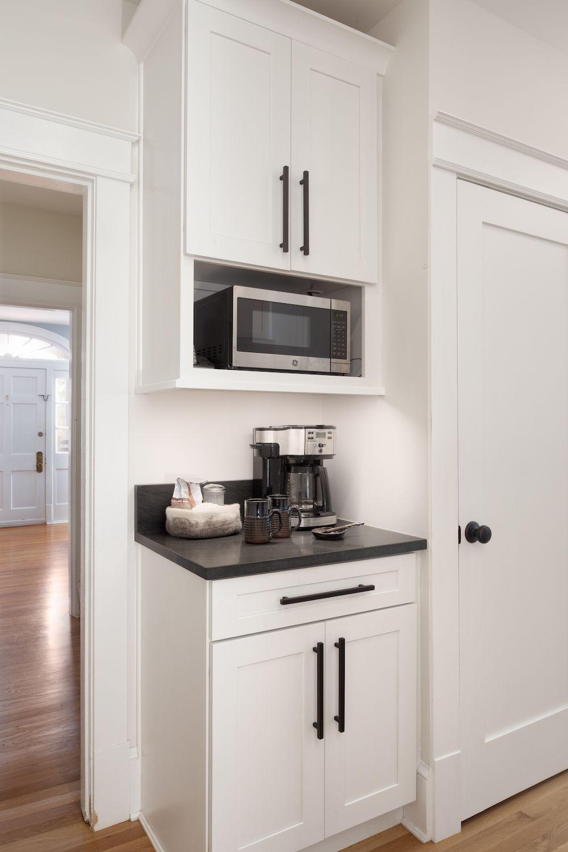 Coffee Nook Shaker Cabinets Arlington Va Kitchen White Shaker Kitchen Cabinets Coffee Nook White Shaker Kitchen