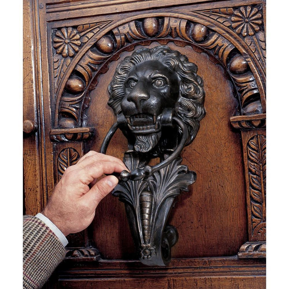 18th Century Italian Antique Replica Lion Iron Door Knocker NEW