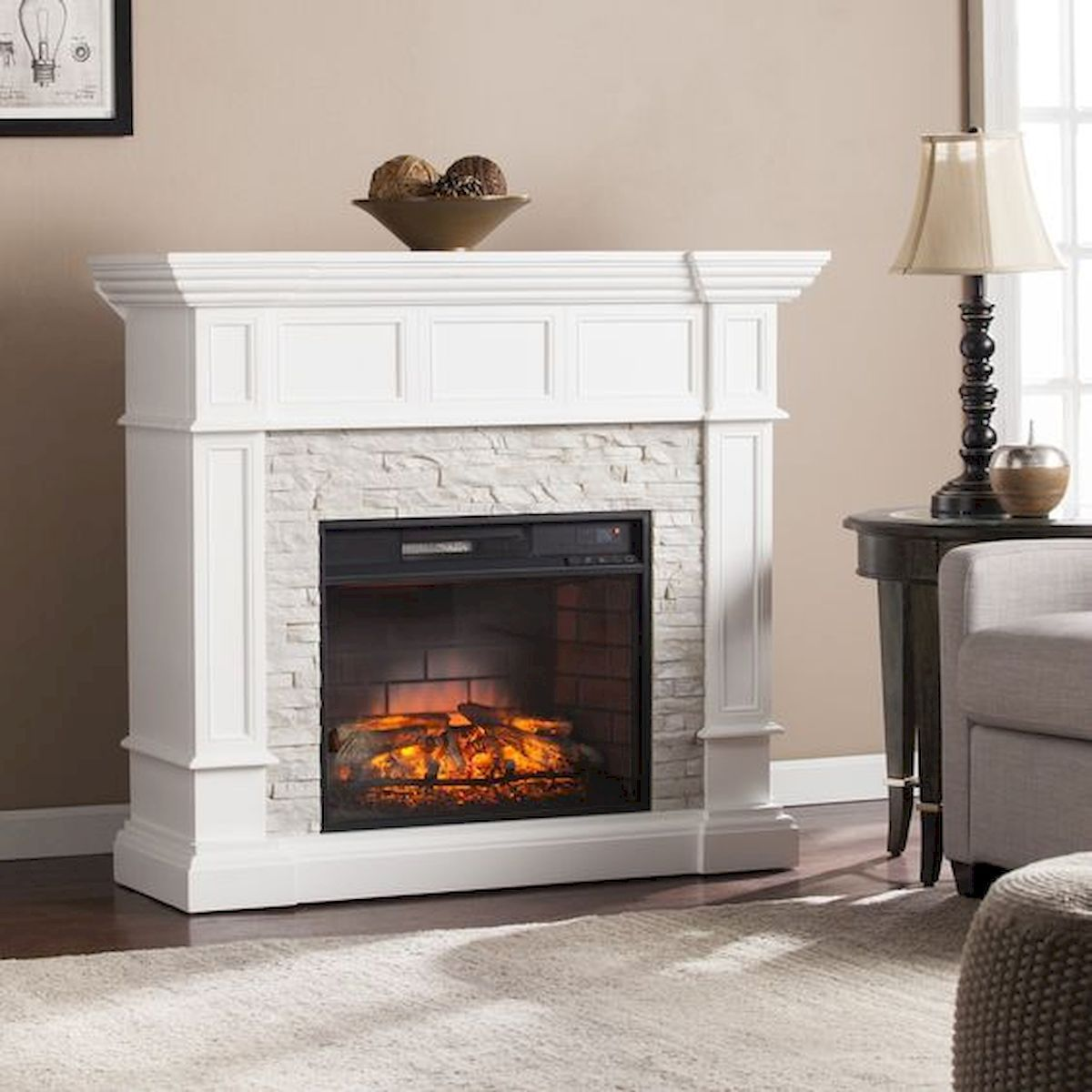 Brilliant 33 Gorgeous Farmhouse Fireplace Decor Ideas And Design 33 Interior Design Ideas Inesswwsoteloinfo