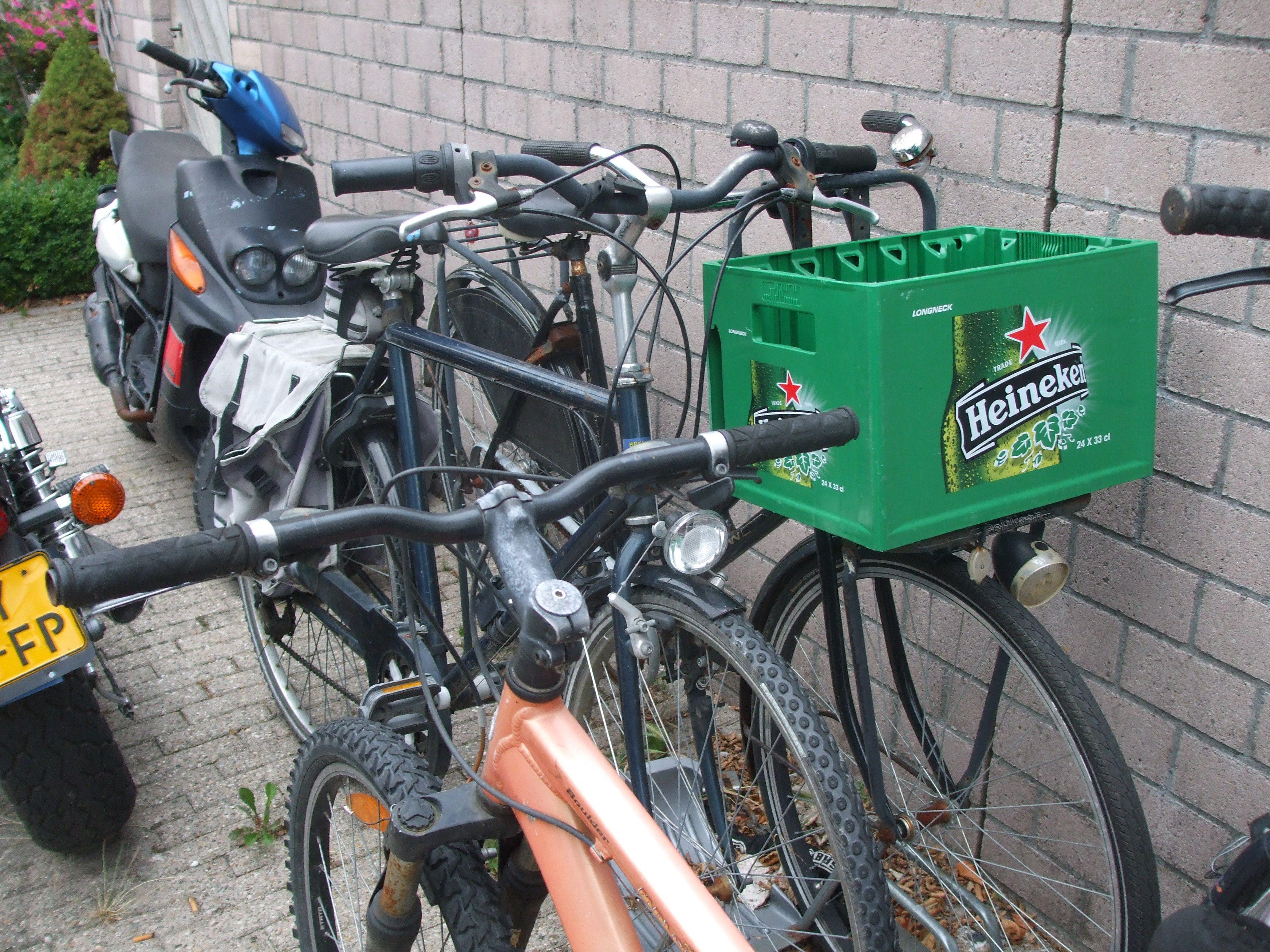green plastic basket Heineken Beer | Bike Baskets | Pinterest