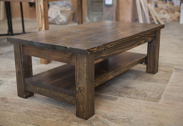 Walden Pond Coffee Table Wood Coffee Table Rustic Diy Farmhouse Coffee Table Coffee Table Square