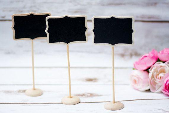 Wedding Chalkboard Table Numbers Wooden Wedding Place