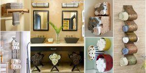 15+ fantastic ideas for storing towels