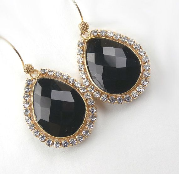 Bezel Set Gemstone Earrings Swarovski Diamond by DoolittleJewelry, $87.50