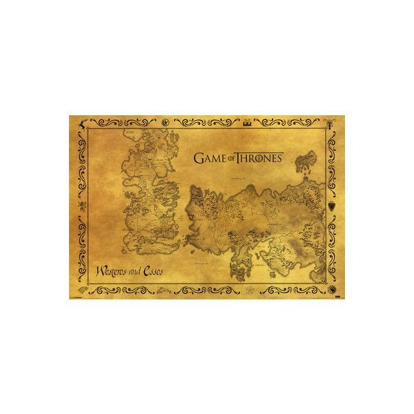 Game Of Thrones - Antique Map Poster ($4.99) ❤ liked on Polyvore ...