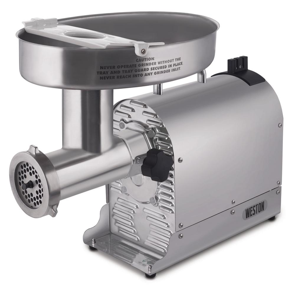Weston Butcher Series Commercial Grade #32 Electric Meat Grinder 1.5 HP