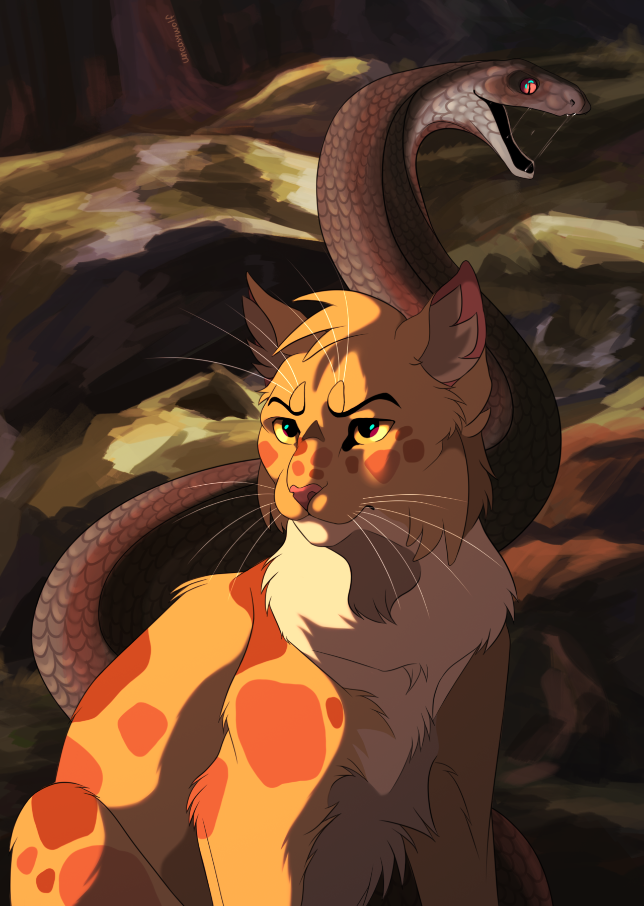 Frecklewish Of Thunderclan Killed By An Adder At The Paws