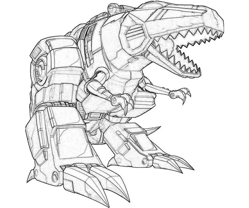 transformers printable coloring pages printable transformers fall of cybertron grimlock cartoon coloring - Transformers Coloring Pages