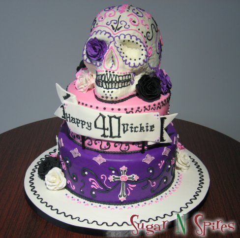 Day of the Dead Cake by Sugar N Spires