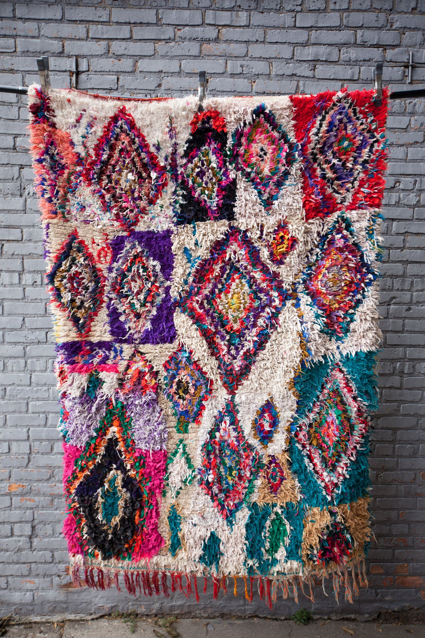 The Amazing Moroccan Boucherouite Rag Rug
