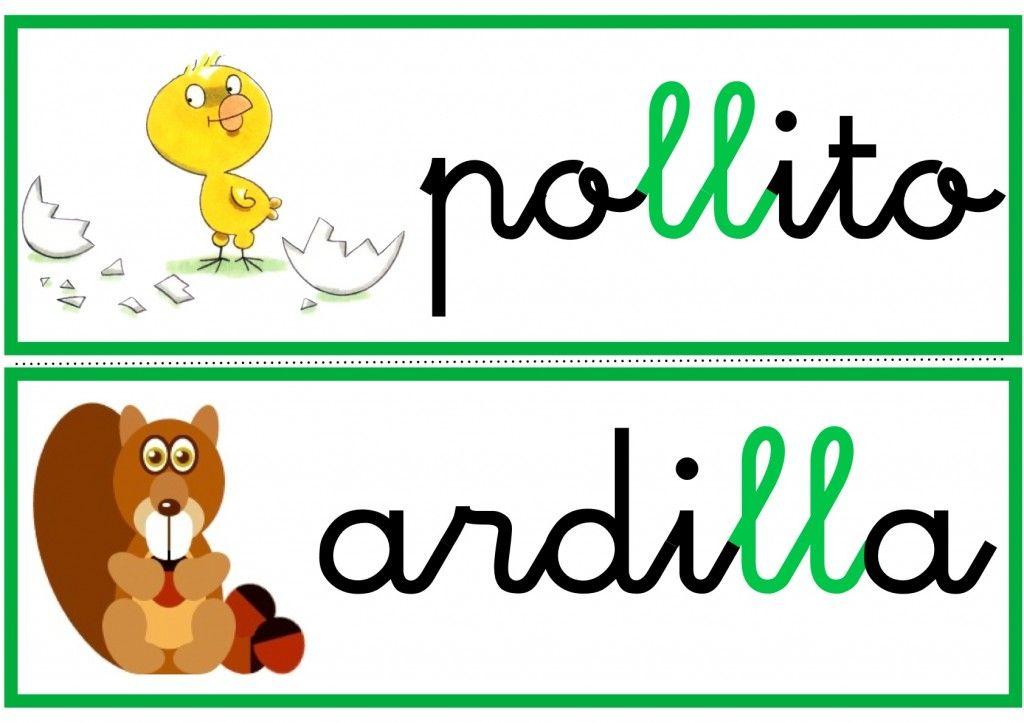Dificultades Ortográficas Recursos Para El Aula Escuela En La Nube Palabras Con Ll Lectura De Palabras Actividades De Letras