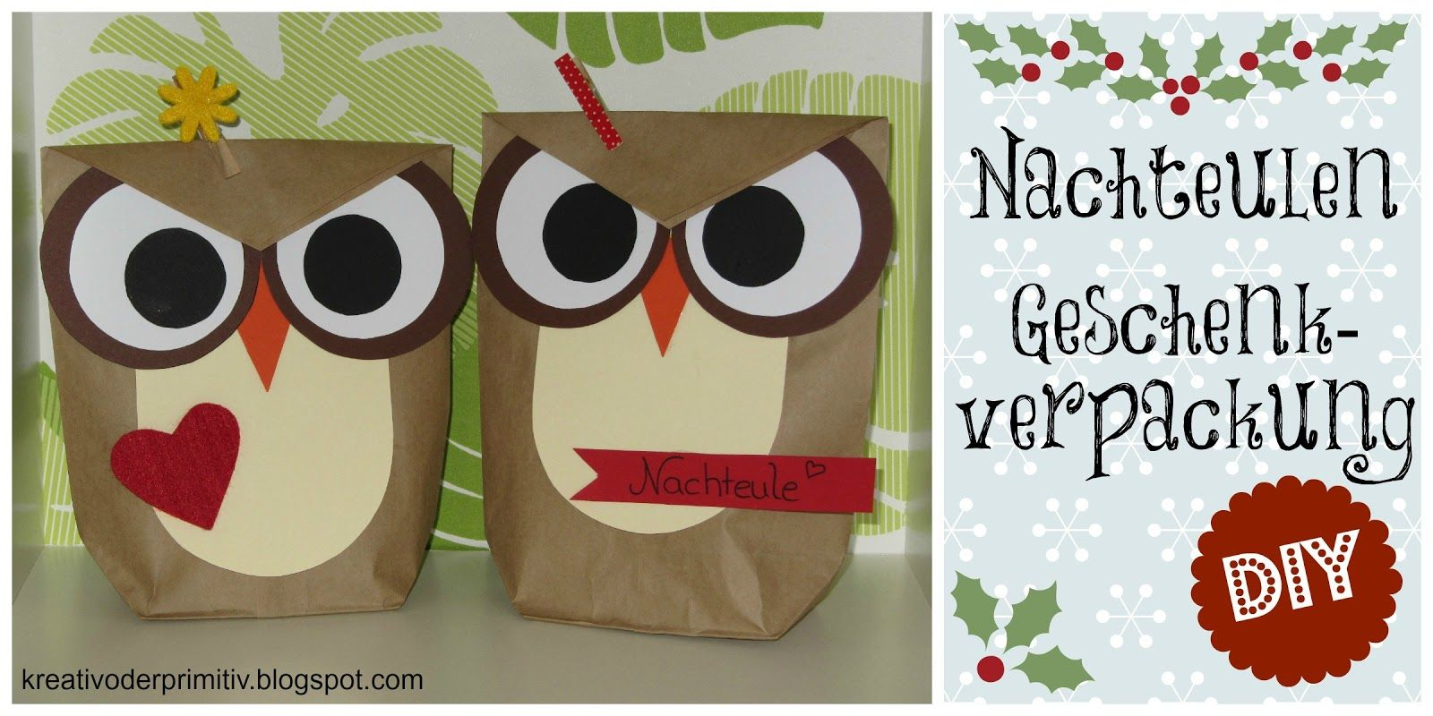 Eule Nachteule Geschenk Verpackung Idee Diy Selber Machen Basteln Anleitung  Tutorial Basteln Weihnachten Geburtstag T�te Karton